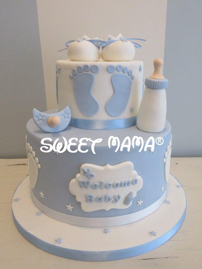 torte battesimo e baby shower sweet mama milano cake design bakery torte decorate a. Black Bedroom Furniture Sets. Home Design Ideas